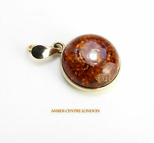 Italian Made Classic Elegant Baltic Amber Pendant in 9ct Gold GP0016 RRP£165!!!