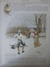 1894 I Fechten Duell Miss Maupin