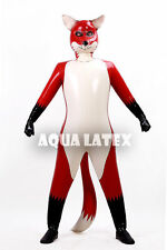 Latex/Rubber Inflatable Fox Catsuit Outfits Inflatable Animal Body Suit Pet Suit