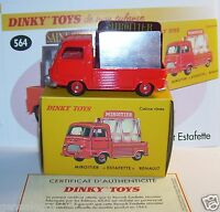 DINKY TOYS ATLAS PICK-UP RENAULT ESTAFETTE MIROITIER ROUGE 1/43 REF 564 IN BOX