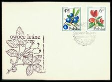 POLEN FDC 1977 FLORA FRÜCHTE BEEREN BEERE FRUITS BERRY BERRIES cf84