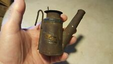Antique Miner Wick Lamp UMWA Mining Lantern Cap Brass Tag Rough Project