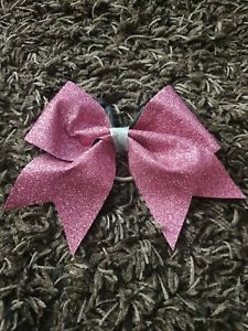 Pink Glitter Cheerleading Bow