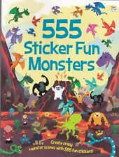 MONSTERS STICKER BOOK, 555 STICKER FUN MONSTERS, NEW PAPERBACK
