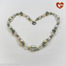 GÜRTELZAUBER LANGE HALSKETTE Quarz Rosenquarz NECKLACE LONG quartz rose quartz