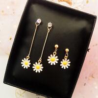 Handmade Enamel Alloy Flower Charms Dangles Trop Earrings Stud Earrings JewelLFI