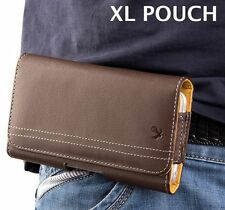For Samsung Galaxy Note 8 -Brown Leather Belt Clip Horizontal Pouch Holster Case