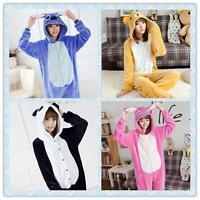 Hot Unisex Adult Pajamas Kigurumi Cosplay Costume Animal bodysuit Sleepwear &*