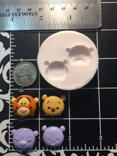 Cartoon Tigger-Bear Head silicone mold Kids-Fondant-Candy-Jewelry-Resin-Clay..