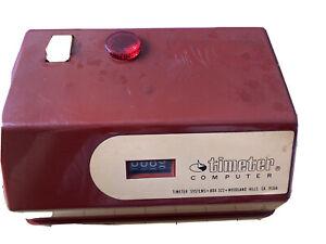 Vintage Timeter Computer Model #903  job tracking clock Red Color