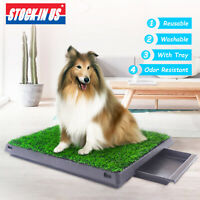 Dog Toilet Pet Potty Portable Toilet Training Grass Mat Dog Bathroom W/ Tray