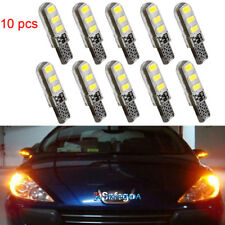 10pcs yellow T10 6SMD Car Silica Gel LED Wedge Light Plate License 194 2825 Bulb