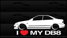 I Heart My DB8 Integra Sticker Love Slammed Low JDM Sedan Honda Acura B18 GSR