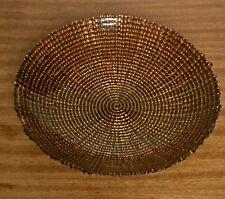 VTG 1950's French Studio Art Glass Gold leaf Bowl Plate Salad Fruit Glass Bowl