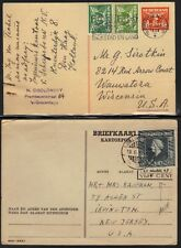 NETHERLANDS-INDIES 1890-1940's LOT OF NINE 6 CVRS & 3 CARDS 1 WITH POSTAGE DUE