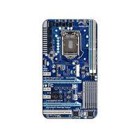 Blue Computer Motherboard - Processor CPU Memory - Metal Lapel Hat Pin Tie Tack
