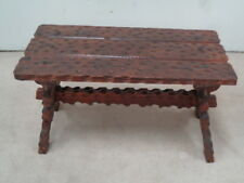CHUNKY RUSTIC STYLE COFFEE TABLE  SOLID WOOD dark oak stain