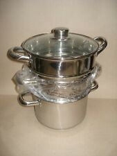 Stacking Stock Pots & Steamer  - Unused