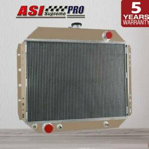 3Core Aluminum Radiator For Ford F100 F150 F250 F350 Bronco Truck 1966-1979