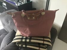 Sac pliage LONGCHAMP cuir Verni rose