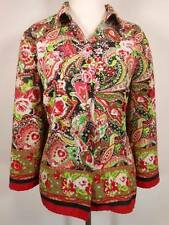 Beautiful Women's Size 16 Sag Harbor Floral Paisley Fitted Long Sleeve Blouse