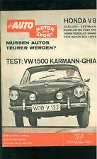 Auto Motor Sport  TEST VW 1500,  Karman.Ghia Ausgabe Mai 1962