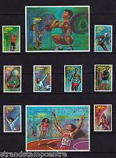 Nevis - 1992 Olympic Gold Medal Winners - U/M - SG 660-7 + MS668 (2)