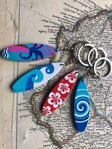 Novelty Surf Board Gift Keyring/Bag Accessory/Party Bag filler 4 designs