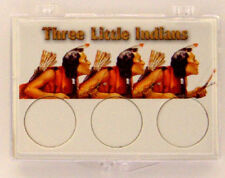 Three Little Indians Braves, 2X3 Snap Lock Coin Holders, 3 pack