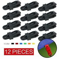 12pcs awning clamp tarp clips snap hangers tent camping survival tighten too HH