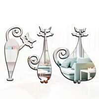 Animals DIY Mirror Style Vinyl Art Wall Stickers Decals Kids Children Home Decor
