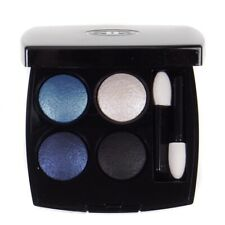 Chanel Eyeshadow Quad Palette 244 Tisse Jazz Light & Dark Blue Grey White - New