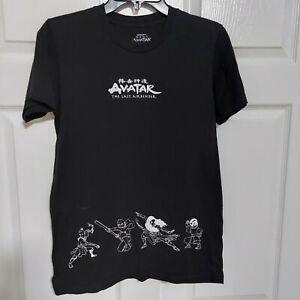 Nickelodeon Avatar The Last Air Bender Unisex Black T Shirt Size Small