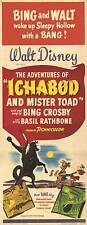 ICHABOD AND MISTER TOAD Movie POSTER 14x36 Insert Bing Crosby Eric Blore Basil