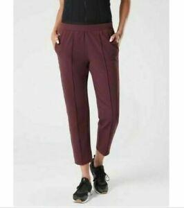 Athleta Venice Pintuck Antique Burgundy Stretch Waist Pockets Pants Medium