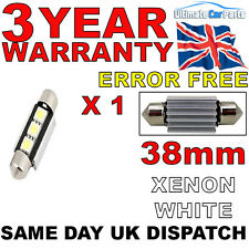 1 X 38mm 3 SMD LED 239 272 C5W CANBUS NO ERROR INTERIOR LIGHT FESTOON BULB WHITE