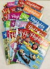 Lot  Of 6 (six) RANDOM HIGHLIGHTS Fun with a Purpose For Children MAGAZINES