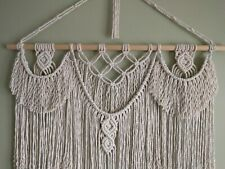 Macrame Wall Hanging, home decor gift, natural cotton cord, 60 cm × 75 cm.