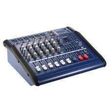 6 Channels Digital Mic Line Audio Mixing Console Power Mixer Amplifier Q8V5