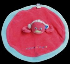 Doudou Pingouin Poussin SUCRE D'ORGE Plat Rond Rose NEUF
