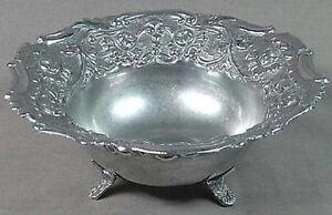 Silver Bowl FLORAL Repousse' Rare Vintage ART DECO OFER