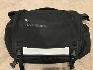 Used Patagonia Messenger Laptop Bag Black With Shoulder Strap