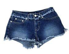 Blue Asphalt Juniors Cut Off Jean Shorts Size 3 Frayed Distressed
