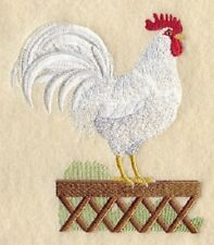 Large Embroidered Zippered Tote - Leghorn Rooster A3213