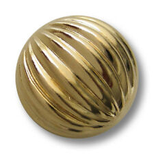 5 goldfb. leichte Halbkugelknöpfe aus Metallblech mit Rillen Muster (5321go-23)