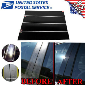 4X Set Black Cover Door Pillar Posts for Ford F150 2004-2014 Extended SUPER CAB