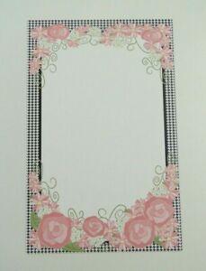 22 Bridal Baby Shower Invitations Girl Birthday Pink Roses Black Free shipping
