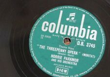 78rpm NORRIE PARAMOR threpenny opera theme / poor people of paris DB 3745