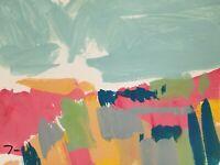 "JOSE TRUJILLO ART LANDSCAPE ORIGINAL COLLECTIBLE ACRYLIC on Paper PAINTING 9x12"""