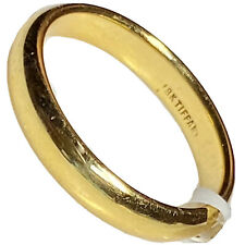 Tiffany 18K Yellow Gold Wedding Band Ring 4.5 mm Wide Size 10.75 Mens Gents